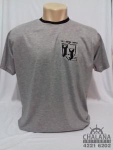 Camiseta Cinza Bordada do Laura Lopes (Medium)