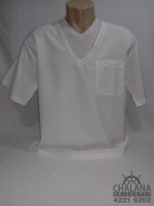 Jaleco branco gola V