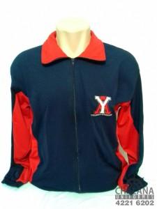 Jaqueta de Helanca sem capuz Bordada do Yolanda