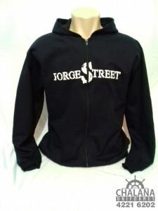 Jaqueta de Moletom Azul Marinho Silkada do Jorge Street